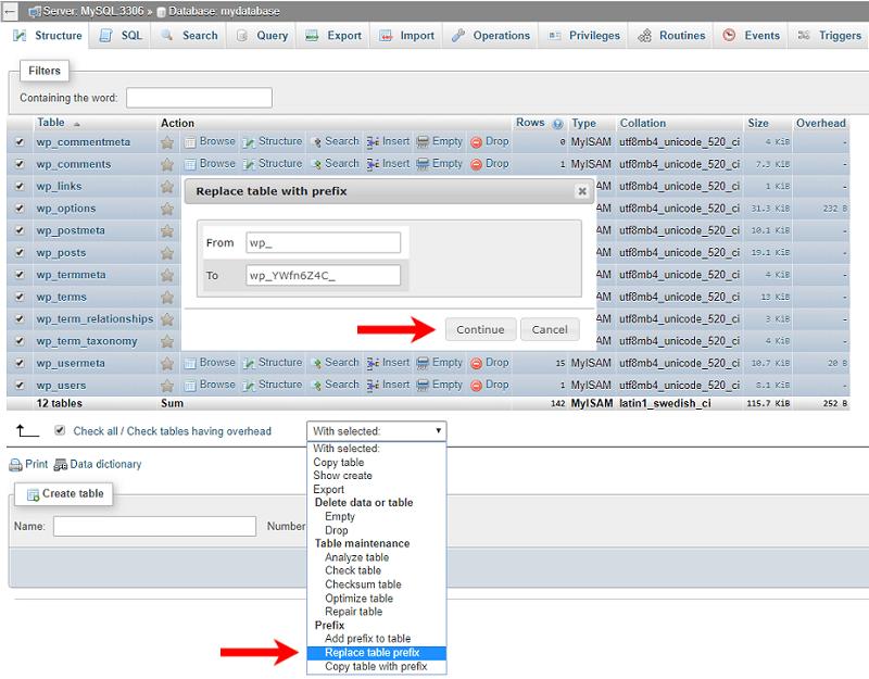 How to Change the Default WordPress Database Prefix » Zuziko
